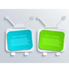 modern tv banners design background vector image