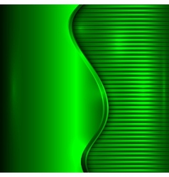 Abstract green background with curve and stripes vector