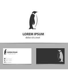 Abstract penguin logo design template vector image