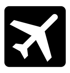 Aircraft Fly Sign vector image