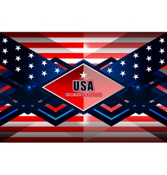 American geometric background vector