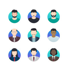 avatar profiles minimalistic icons anonymous vector image