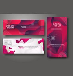 Banner set design template in trendy vibrant vector