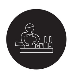 bartender making cocktail black concept vector image