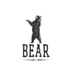 Bear logo logotype vector