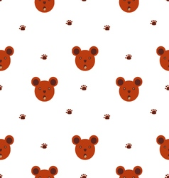 Bears seamless cartoon pattern vector image