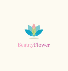 Beauty flower logo vector