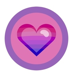 Bisexual colors love symbol vector