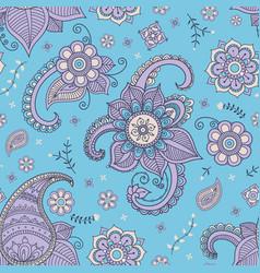 blue paisley pattern vector image