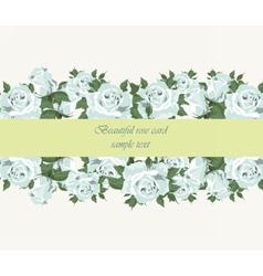 Blue roses vintage background vector