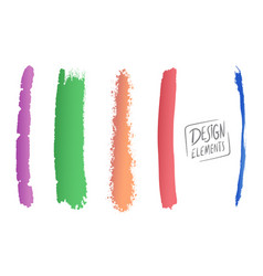 brush and splash design elements vector image