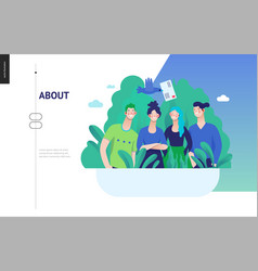 Business series - about company contact web vector