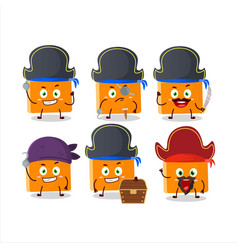 Cartoon character pumpkin cake with various vector