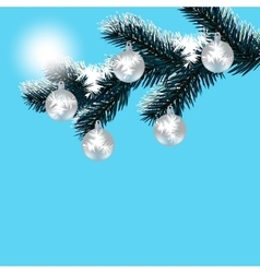 Christmas New Year s card Frosty winter day vector image