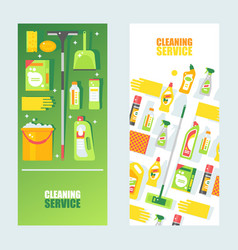 cleaning service banner flat vector image