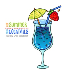 Cocktails one cartoon 8 vector