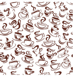 Coffee cup seamless pattern background vector