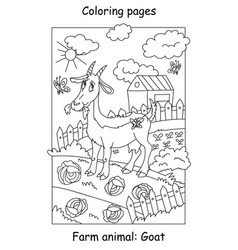 Coloring goat vector