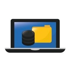 Computer web hosting icon design vector
