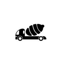 Concrete mixer icon element of popular transport vector