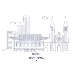 daegu linear city skyline vector image