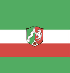 Flag north rhine-westphalia vector