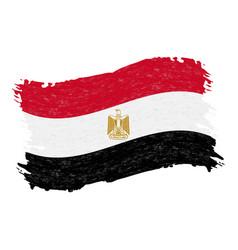 flag of egypt grunge abstract brush stroke vector image