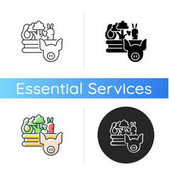 Food and agriculture icon vector