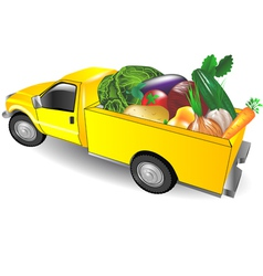 fruit truck vector image