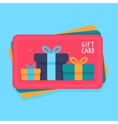 gift card in flat style vector image