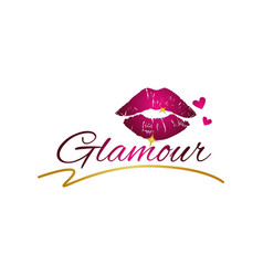 Glamour lips logo sign symbol icon vector