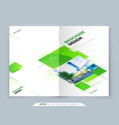 Green brochure cover template layout design vector