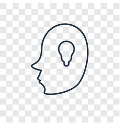 head concept linear icon isolated on transparent vector image