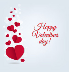 hearts postcard valentines day vector image