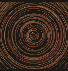 Hypnotic abstract circular line background vector