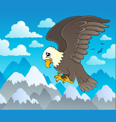 image with eagle theme 1 vector image