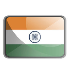 india flag on white background vector image