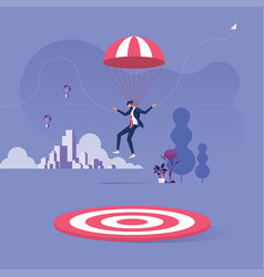 Missed target-business failed concept vector