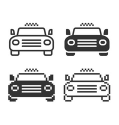 monochromatic taxi icon in different variants vector image