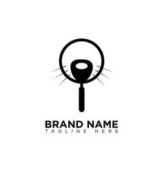 Pet search logo design template vector