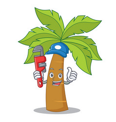 Plumber palm tree character cartoon vector