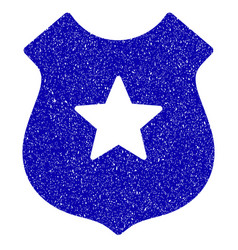 Police shield icon grunge watermark vector