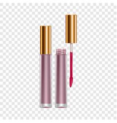 purple lip gloss mockup realistic style vector image