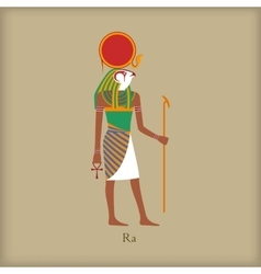 Ra God of the sun icon flat style vector image