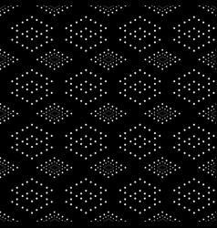 Rhombus and circle seamless pattern vector