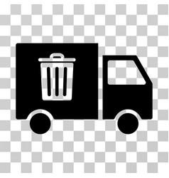 rubbish transport van icon vector image