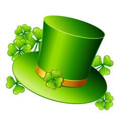 saint patricks day leprechaun hat vector image