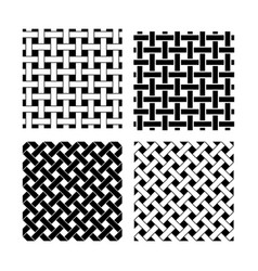 seamless knot pattern in black and white vector image