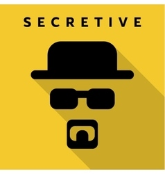 Secretive Mask Hero superhero flat style icon vector