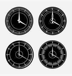 set hours clock icon 24 hour support vector image